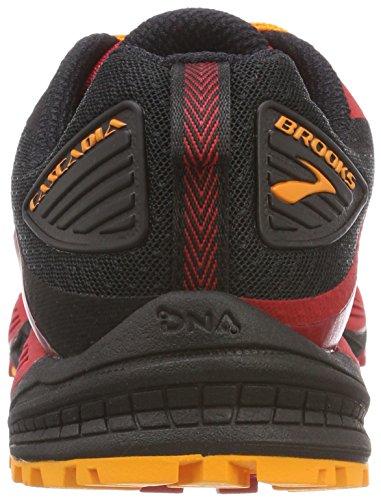 Hombre De Brooks 12 Rojo Zapatillas Cascadia red Asfalto Para 1d663 black Running orange wqq50rtnU8