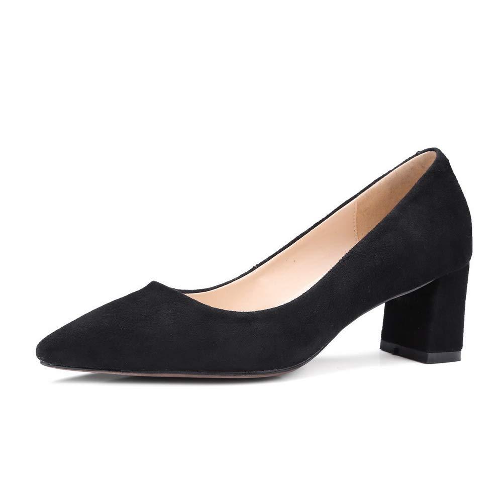 AN DGU00837, Sandales Compensées Femme - Noir - Noir, 36.5 EU