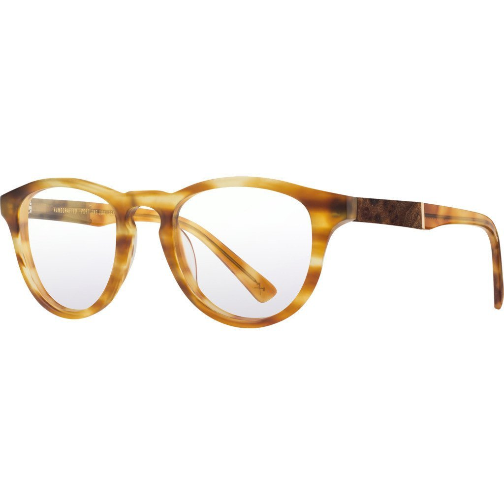 Shwood RX Francis Acetate Glasses   Matte Honey & Elm Burl - Brown