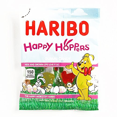 Two Hopper (Haribo Happy Hoppers Gummy Candy 4 oz each (2 Items Per Order, not per case))