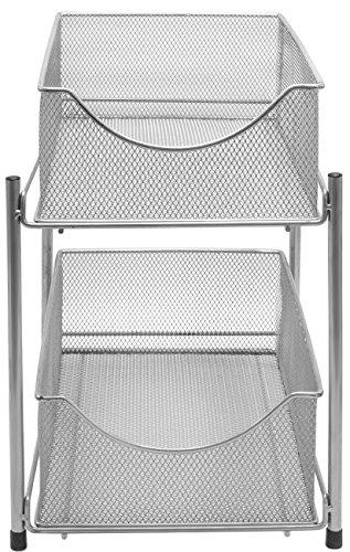 Sorbus 2 Tier Organizer Baskets With Mesh Sliding Drawers