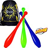 PLAY PRIMA Pro 1 Piece Juggling Clubs Set of 3
