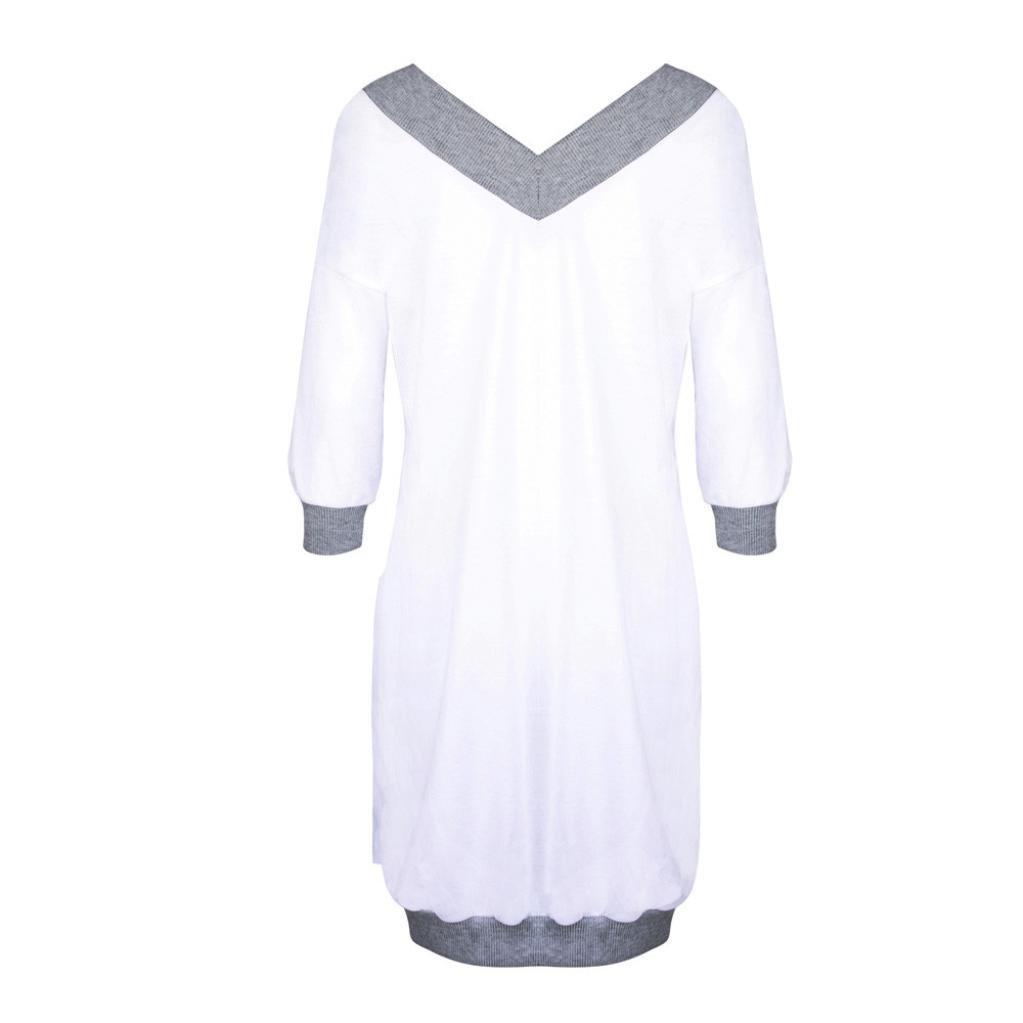 Deportivas Manga Larga Blusa Tops Corto Casual Sweatshirt Primavera y oto/ño Invierno V-Cuello Suelto Sudadera ASHOP Mujer Sudaderas