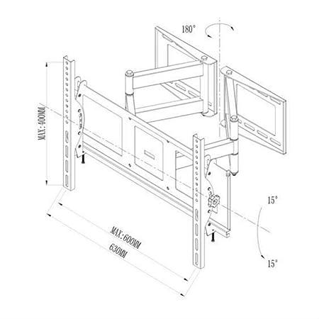 Amazon Com Corner Full Motion Swivel Tv Wall Mount 26 32 40 42 46