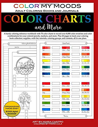 Color Charts And More By Color My Moods Adult Coloring Books And