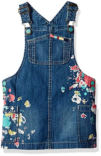 Gymboree Girls' Big Casual Woven Jumper, Denim 3T