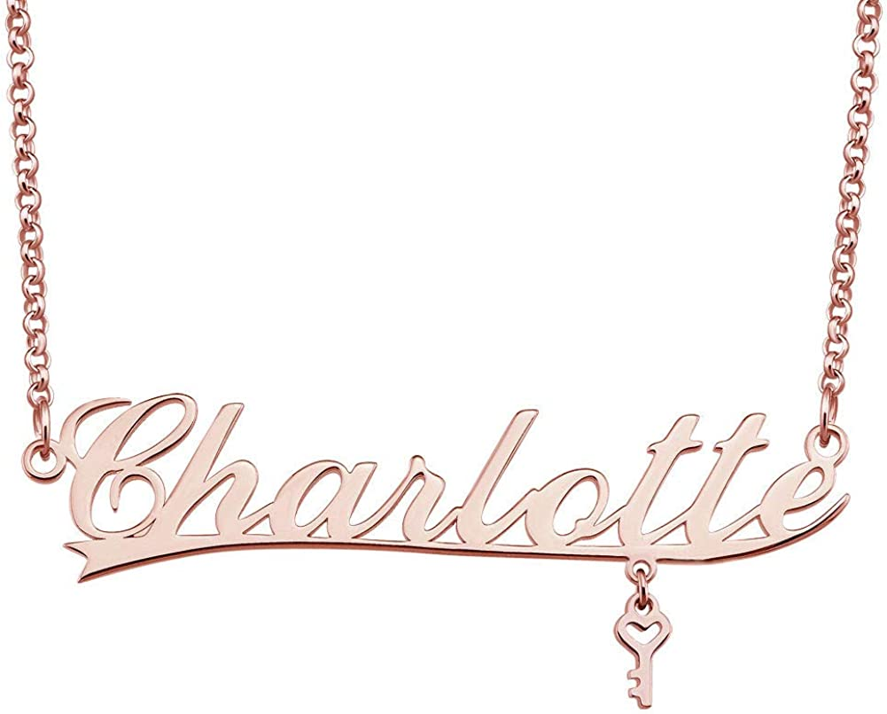 Infinite Memories Personalized Name Necklace Rose Gold Customized Pendant Costom