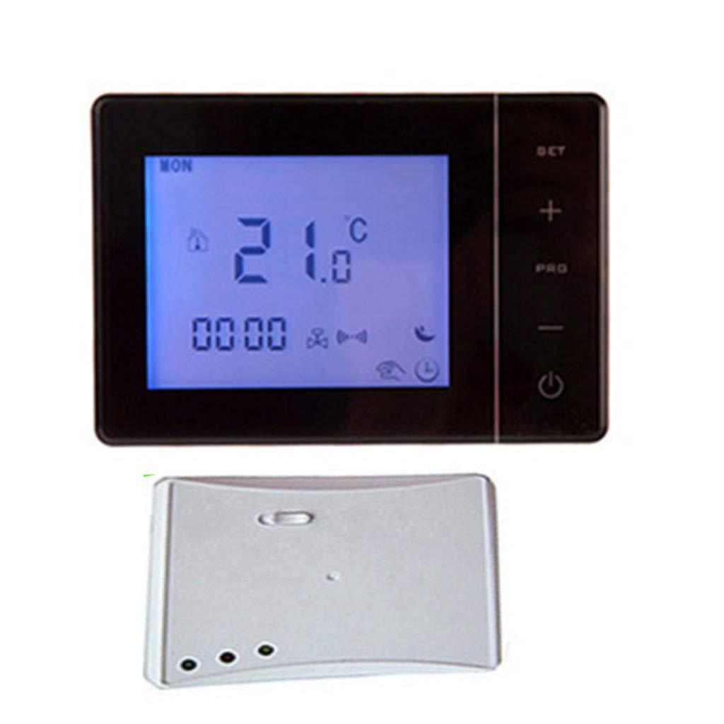 Negro Homyl HY01RF RF Inal/ámbrico Termostato de Pared de Caldera de Gas Calefacci/ón Control Remoto