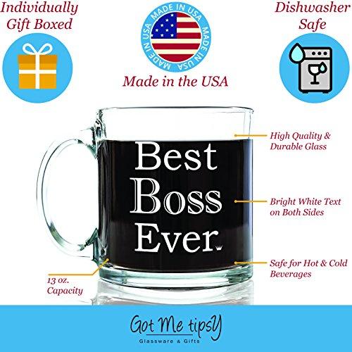 Best Boss Ever Glass Coffee Mug 13 Oz