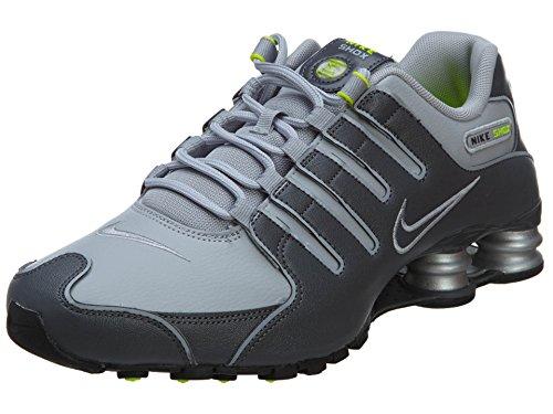Nike Mens Shox NZ Running Shoes Dark Grey/Wolf Grey/Volt 378341-009 Size 13