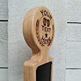 Custom Personalized Beer Tap Handle with Chalkboard Dry-erase Surface Marker Board. Engraved Personalized Logo. Great Gift, for Brewery and Home