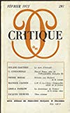 img - for Critique F vrier 1972 N  297 book / textbook / text book