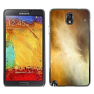 Caucho caso de Shell duro de la cubierta de accesorios de protección BY RAYDREAMMM - Samsung Galaxy Note 3 N9000 N9002 N9005 - Universe Gas Cloud Galaxy Yellow Stars