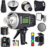 Godox AD600BM Bowens Mount 600Ws GN87 1/8000 HSS Outdoor Flash Strobe Monolight with X1T-C Wireless Trigger For Canon Camera/ 32X32Softbox/ Standard Reflector and Grid/ Barn Door/ Large Snoot