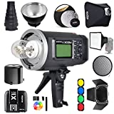 Godox AD600BM Bowens Mount 600Ws GN87 1/8000 HSS Outdoor Flash Strobe Monolight with X1T-C Wireless Trigger For Canon Camera/ 32''X32''Softbox/ Standard Reflector and Grid/ Barn Door/ Large Snoot