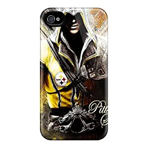 Apple Iphone 4/4s Niz6184QDpC Customized High-definition Pittsburgh Steelers Skin Perfect Hard Cell-phone Cases -AlainTanielian