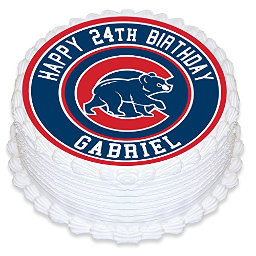 Chicago Cubs Edible Image Cake Topper Personalized Birthday 8