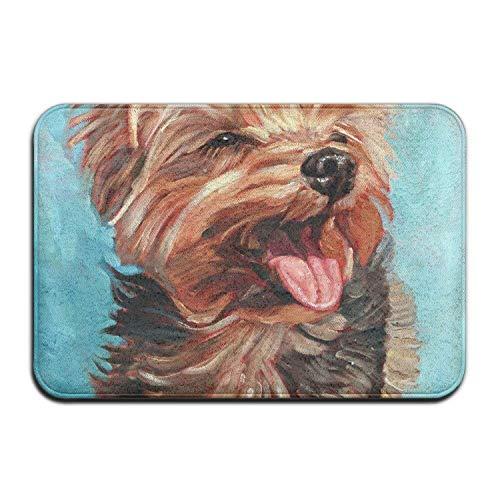 colory Yorkshire Terrier Door Mat Mat Floor Mat Rug Indoor/Front Door/Bathroom/Kitchen Mats Rubber Absorbent Non Slip 23.6