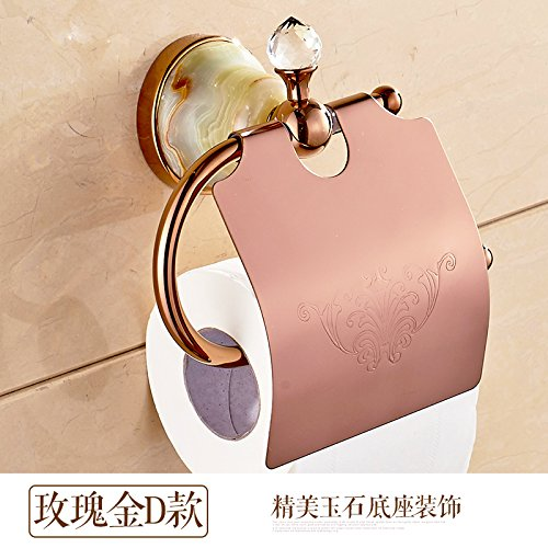 Surnoy All Copper Gilt Paper Towel Stand Golden Blue and White Porcelain European Roll Paper Holder Paper Towel Rack Toilet Paper Holder Paper Towel BoxD -