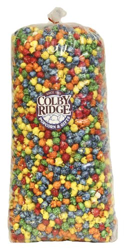 Rainbow Popcorn 91 oz. 5 Gal. 50 Cups (Colorful Popcorn compare prices)