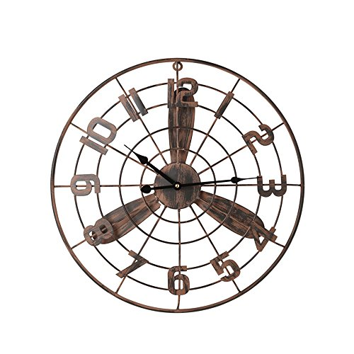 TLMY Reloj de Pared Retro Industrial del Ventilador de la decoración de la Pared del Reloj Retro Reloj de Pared (Tamaño :...