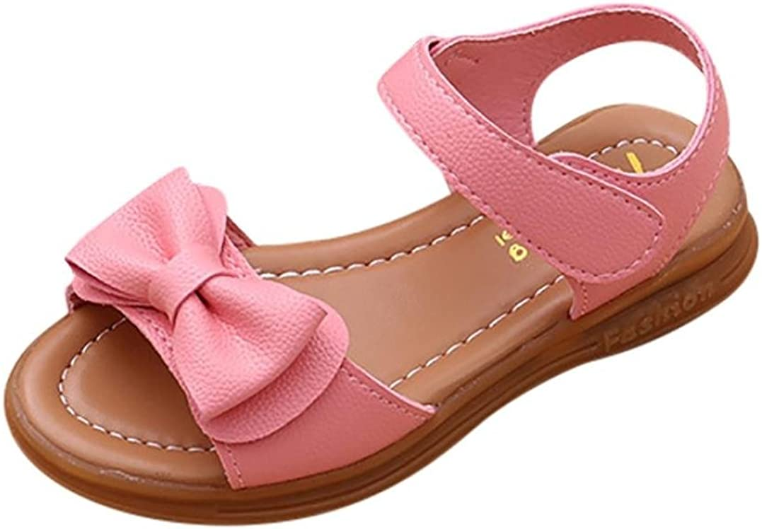 Transer- /® 1-9 Ans Enfants infantiles Filles Bowknot Sandales Non-Glissement Princesse Chaussures de Sport