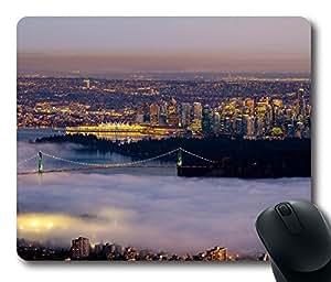 Mouse Pad Vancouver Fog City Desktop Laptop Mousepads Comfortable Office Mouse Pad Mat Cute Gaming Mouse Pad