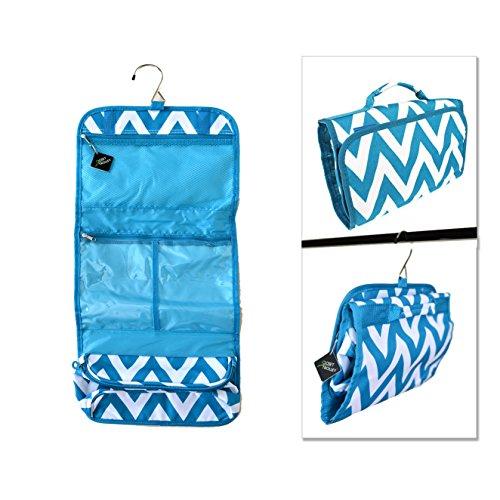 Closet Trolley Hanging Accessory Bag - BLUE CHEVRON (Dance Racks Costumes)