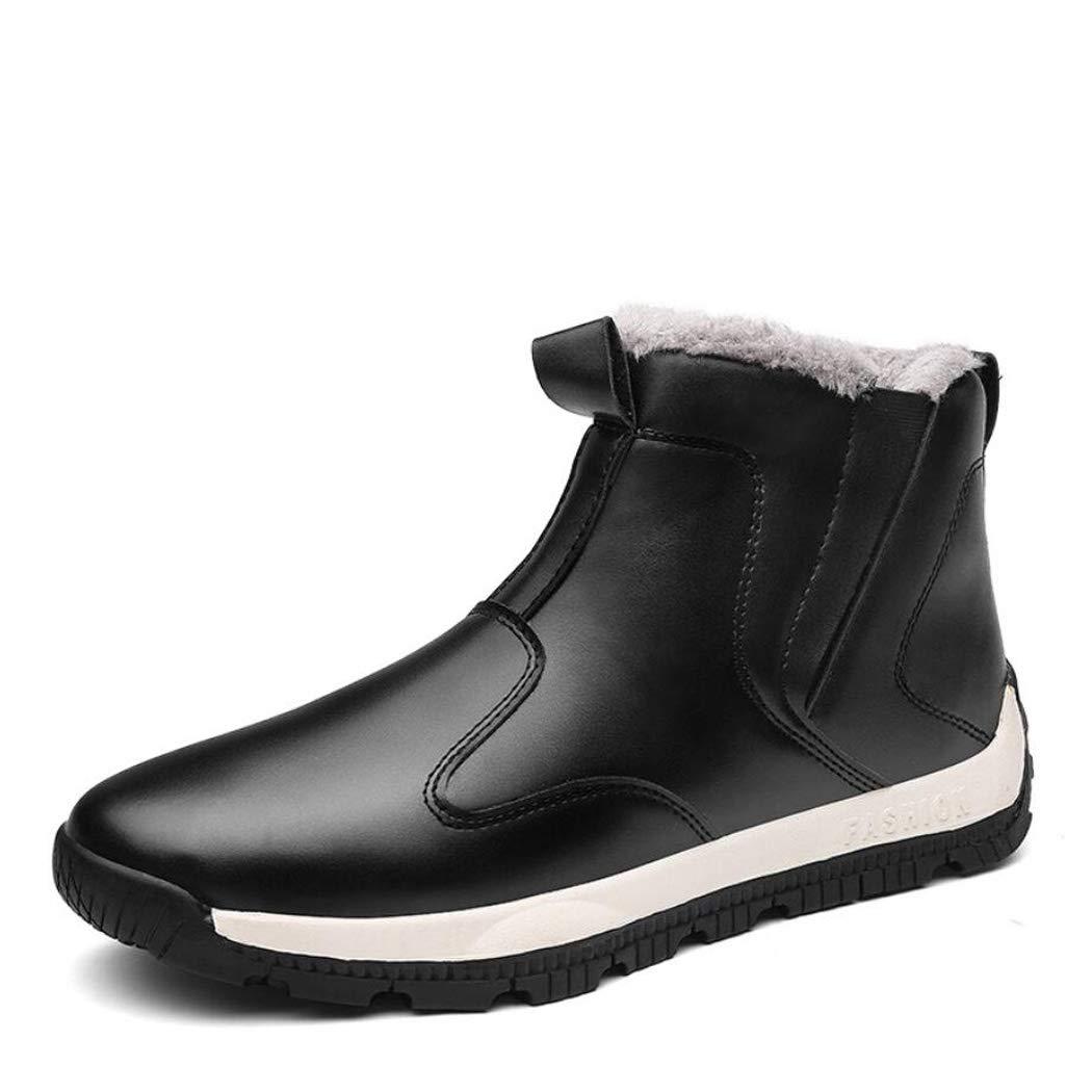 XxoSchuhe Winter Herren High Hilfe Plus SAMT Baumwolle Stiefel British Fashion Warm Set Fuß Schnee Stiefel Kreuz