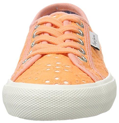 Pepe Arancione Orange Dye Jeans Bambina Scarpe Ginnastica Baker Basse da Lt Tie rrw6H