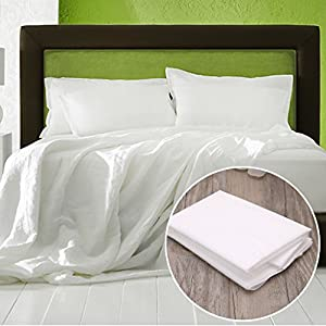 """UJuly Disposable Pillow Cover for Hotel Travel Household Portability Non-woven Pillow Cover for Traveling Camping and Business Trips 27.56""""x19.69"""""""