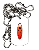 TooLoud Ladybug Surfboard Adult Dog Tag Chain Necklace