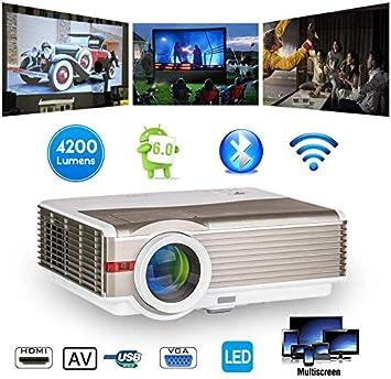 Inalámbrico Bluetooth Proyector 5000 lumen HDMI 1080P Teatro en ...