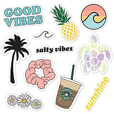Canopy Street Cute VSCO Girl Stickers for Water Bottles, laptops & Cell Phones / 11 Waterproof Stickers: Toys & Games