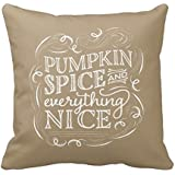 Vincent Vivi American Home Bed Pillow Cover Pumpkin Spice Fall Halloween New Pillow Case