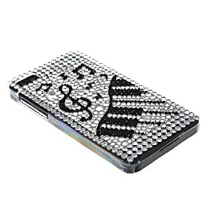 Quaroth MOONCASE Bling Rhinestone Crystal Style Devise Hard Back Case Cover With Screen Protector for Blackberry Z10