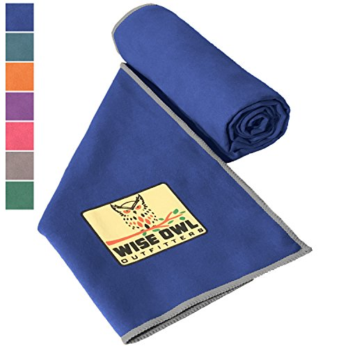 Camping Towel by Wise Owl Outfitters - Ultra Soft Compact Quick Dry Microfiber - Great for Fitness, Hiking, Yoga, Travel, Sports, Backpacking & The Gym - Free Bonus Hand Towel 24x48 RB
