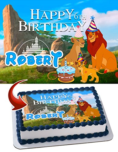 how to make a lion king cake topper