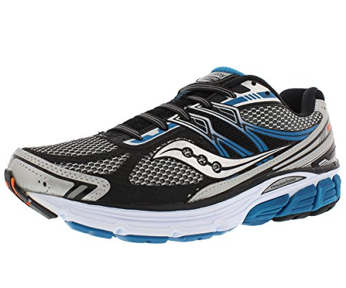 Saucony Men's Omni 14 Running Shoe, Silver/Blue,10 M US