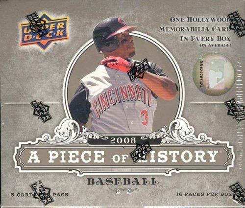 2008 Upper Deck Artifacts A Piece of History Baseball HOBBY box (16 pks)