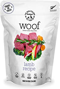 The New Zealand Natural Pet Food Co. WOOF Lamb Freeze Dried Raw Dog Food, Topper, or Treat - High Protein, Natural, Limited Ingredient Recipe 1.76 oz