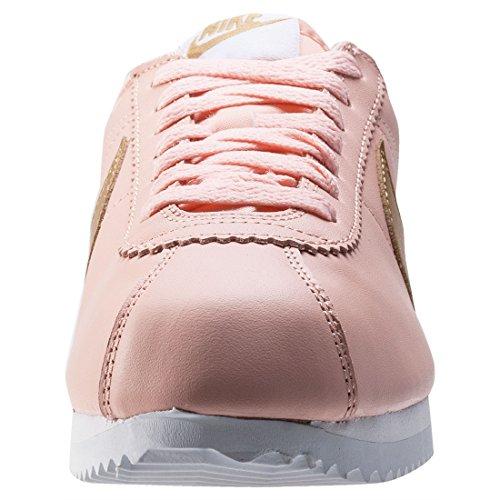 Nike Kvinners Klassiske Cortez Skinn Tilfeldig Sko Rosa Fersken