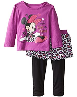 Baby Girls' 2 Piece Minnie Long Sleeve T-Shirt and Knit Pant