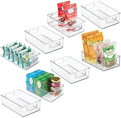mDesign Plastic Kitchen Cabinet Refrigerator