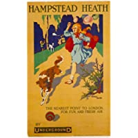 London Underground - Hampstead Heath 1915 - LU015 Satin Paper A3 Size