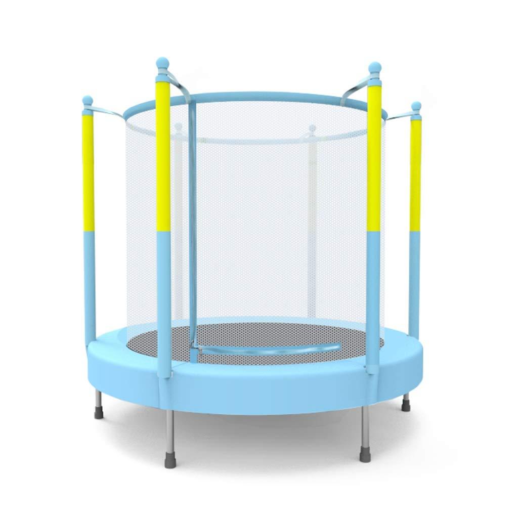 Indoortrampoline Kindertrampolin Trampolin für den häuslichen Heimkindergarten Sprungbett Geschenk für Kinder (Farbe : Blau, Größe : 140x140x140cm)