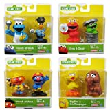 Playskool Sesame Street Figures Set Of 8 - Big Bird, Snuffleupagus, Oscar, Elmo, Cookie Monster, Bert, Ernie & Elmo