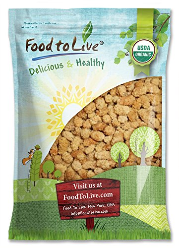 Organic Dried White Mulberries by Food to Live (Non-GMO, Unsulfured, Bulk) - 5 Pounds