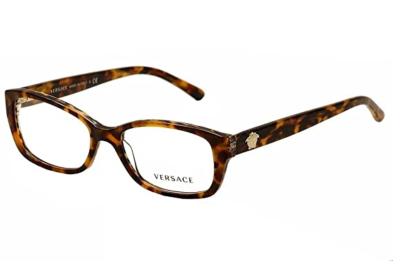 70dc87b26da8 Versace Eyeglasses VE 3207 Eyeglasses 5116 Havana and brown animal print  with glitter 52mm