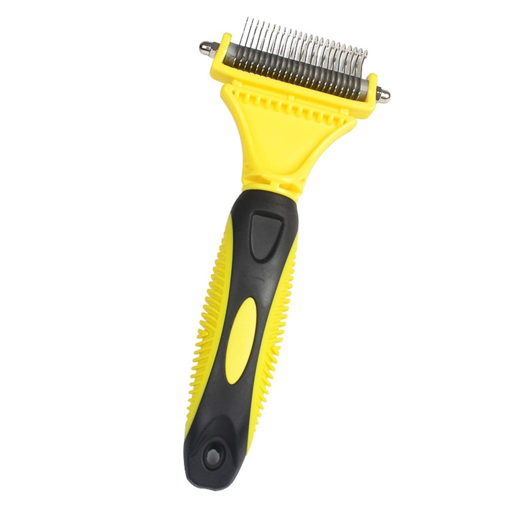 Deshedding Brush,Brush for Dog &catLong Hair Brush(Yellow)